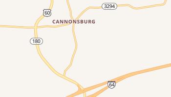 Cannonsburg, Kentucky map