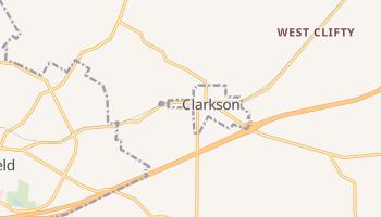 Clarkson, Kentucky map