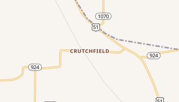 Crutchfield, Kentucky map