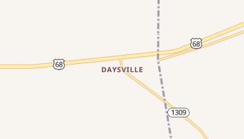 Daysville, Kentucky map