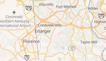 Erlanger, Kentucky map