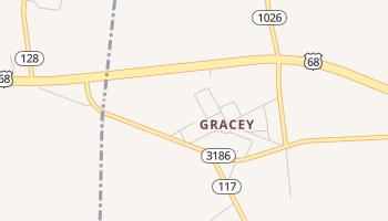 Gracey, Kentucky map