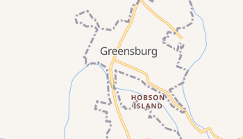 Greensburg, Kentucky map