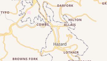 Hazard, Kentucky map