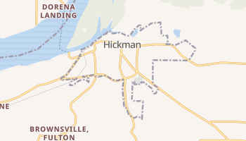 Hickman, Kentucky map
