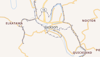 Jackson, Kentucky map