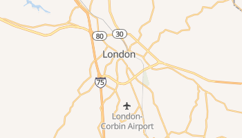 London, Kentucky map