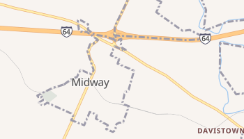Midway, Kentucky map