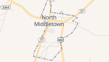 North Middletown, Kentucky map