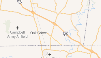 Oak Grove, Kentucky map