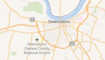 Owensboro, Kentucky map