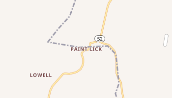 Paint Lick, Kentucky map