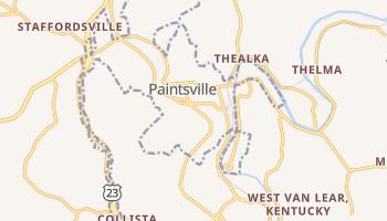 Paintsville, Kentucky map