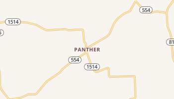 Panther, Kentucky map