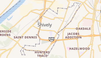 Shively, Kentucky map