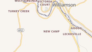 South Williamson, Kentucky map