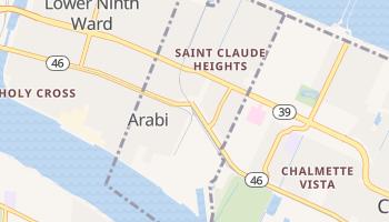 Arabi, Louisiana map
