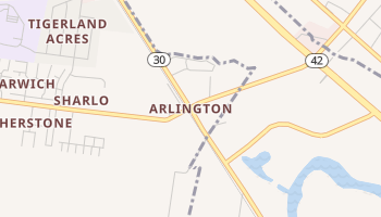 Arlington, Louisiana map
