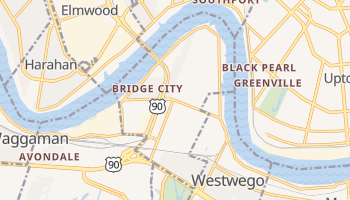 Bridge City, Louisiana map