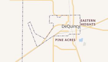 DeQuincy, Louisiana map