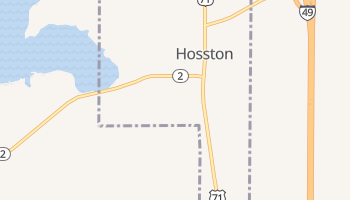 Hosston, Louisiana map