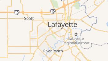 Lafayette, Louisiana map