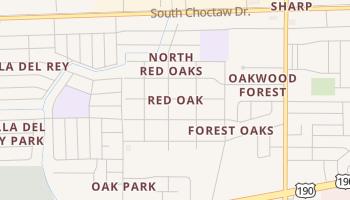 Red Oak, Louisiana map