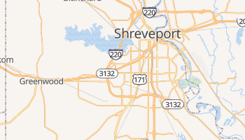Shreveport, Louisiana map