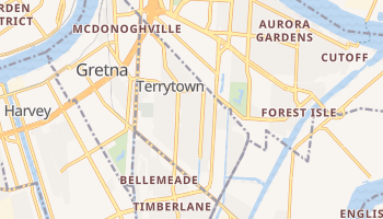 Terrytown, Louisiana map