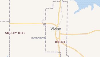Vivian, Louisiana map