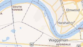 Waggaman, Louisiana map