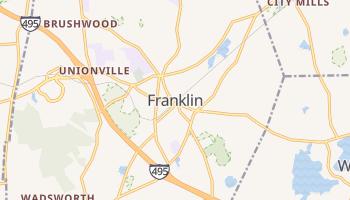 Franklin, Massachusetts map