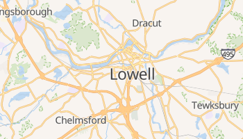 Lowell, Massachusetts map