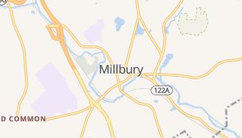 Millbury, Massachusetts map