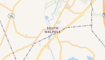 South Walpole, Massachusetts map