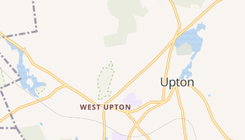 Upton, Massachusetts map