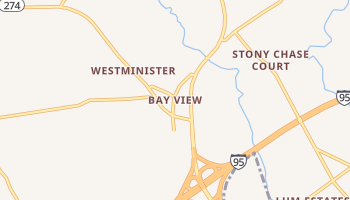 Bay View, Maryland map