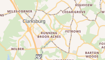 Clarksburg, Maryland map
