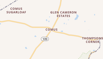 Comus, Maryland map