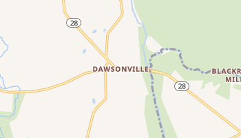 Dawsonville, Maryland map
