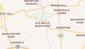 Elk Mills, Maryland map