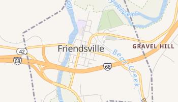 Friendsville, Maryland map