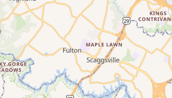 Fulton, Maryland map