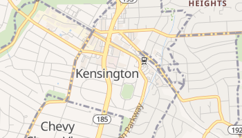 Kensington, Maryland map