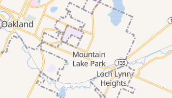 Mountain Lake Park, Maryland map