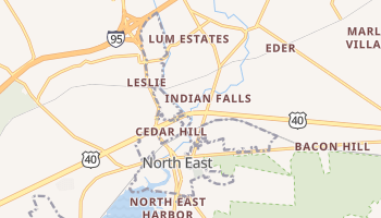 North East, Maryland map