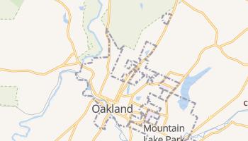 Oakland, Maryland map