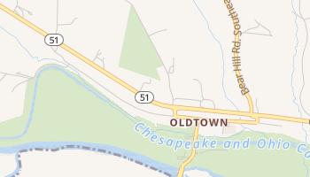 Oldtown, Maryland map