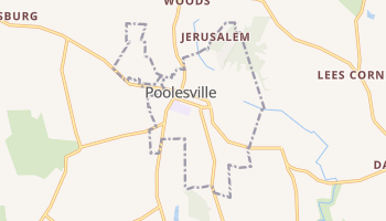Poolesville, Maryland map