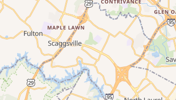 Scaggsville, Maryland map